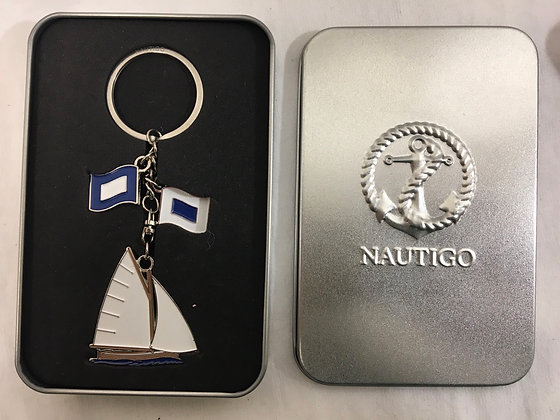 Van go key ring with tin