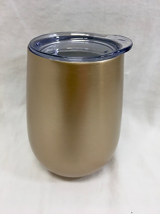 Double walled gold wine tumbler