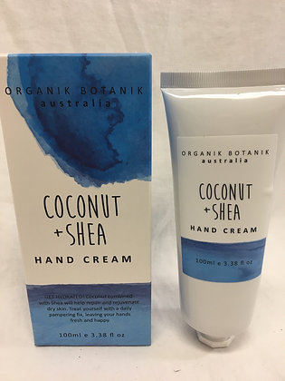 Organik botanik - coconut and Shea handcream - 100ml