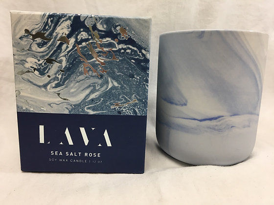 Lava sea salt rose soy wax candle