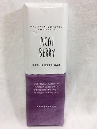 Organik botanik acai berry bath fizzer bar