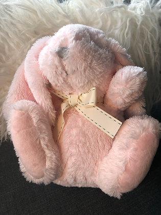 Soft plush pink bunny