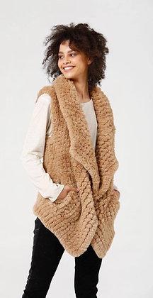 Heywood cashew fur vest