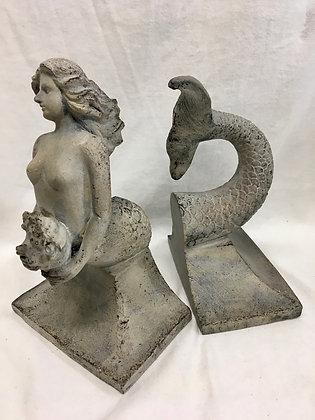 Mermaid book ends