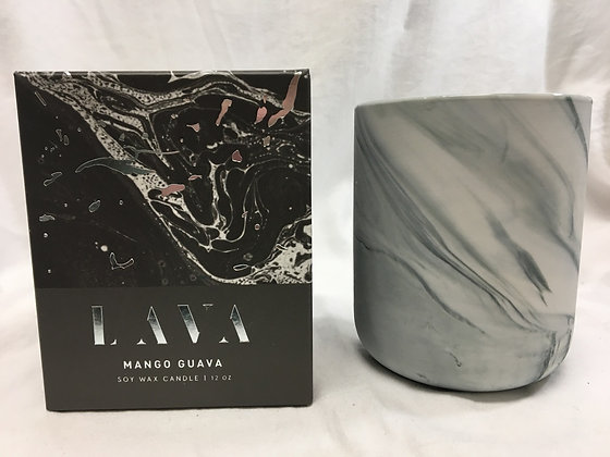 Lava mango and guava soy wax candle