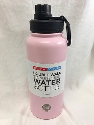 Double walled pink 950ml water bottle
