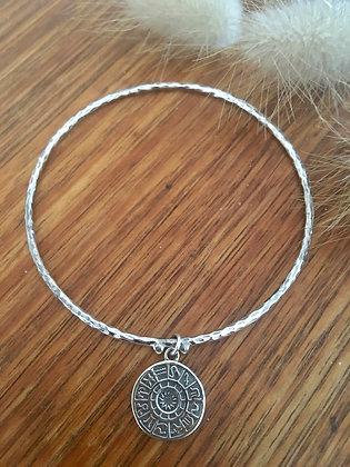 Horoscope sterling silver bracelet