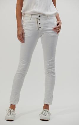 Italian star jeans - white
