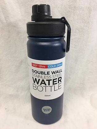 Doubled walled navy 550ml water bottle