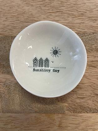 Wobbly ceramic small bowl - sunshiny days