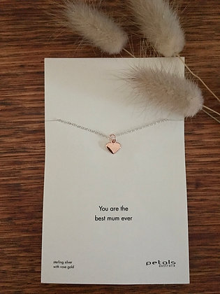 Heart necklace - you are the best mum ever