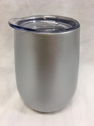 Double walled silver wine tumbler