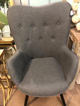 Dark grey upholstered chair