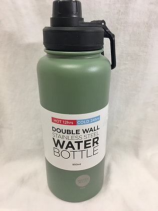 Double walled 950ml army green water bottle