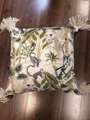 Monkey cushion with tassels