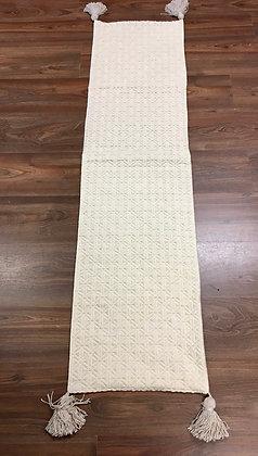 Cream woven table runner