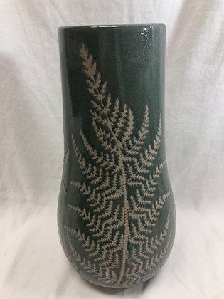 Large green fern vase