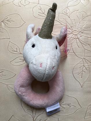 Unicorn ring rattle