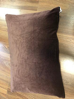 Aubergine velvet rectangle cushion