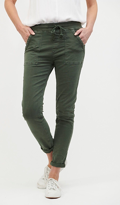 Italian Star pull up jeans - military green