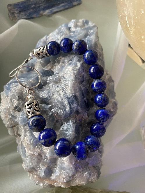 Stunning Lapis Lazuli bracelet with sterling silver