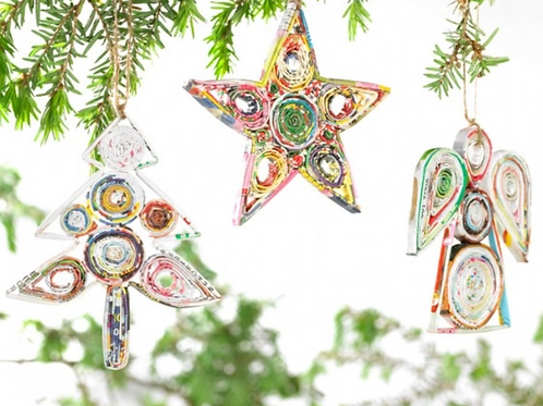 Recycled Paper Ornament
