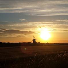 Burnham Overy Windmill at sunset