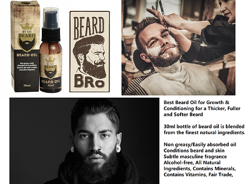 Tenacious Best Beard Oil -Growth/Conditioning for Thicker, Fuller and Soft