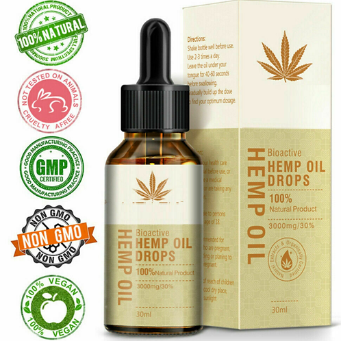 XL 30ml tenacious hemp 30%  -PAIN ANXIETY MOOD SLEEP DIGESTION