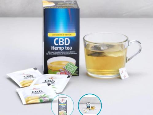 Hemp tea bags -With soft lemon flavour and added Valerian