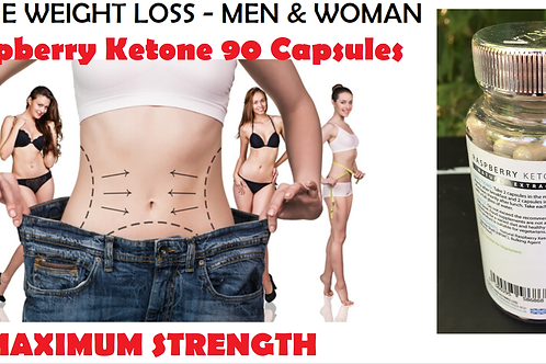 Raspberry Ketone 90 Capsules - DIET WEIGHT LOSS FAT BURN MAX STRENGTH DIET PILLS