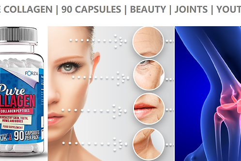Pure Marine Collagen - Skincare Joints Muscle - 90 Capsules High Strength