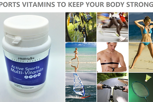 ACTIVE SPORTS VITAMINS FOR MEN | WOMAN - SUITABLE VEGETARIANS