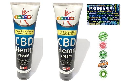 HEMP CREAM 100ML SKIN HEALTH Eczema Psoriasis Dermatitis Skin itchy, Dry Cracked