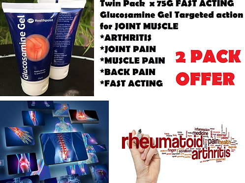 Twin Pack x 75G FAST ACTING Glucosamine Gel Targeted action for JOINT MUSCLE