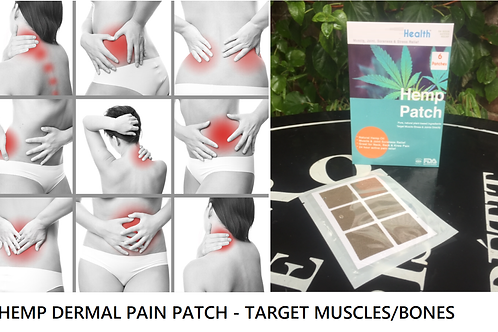 HEMP PAIN PATCH 24 HOUR RELIEF - APPLY ANYWHERE ON BODY