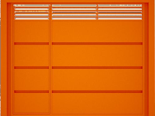 Portão Basculante Padrão com porta social embutida 3,00x2,40mtr