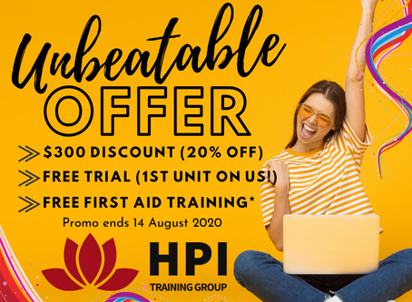 HPI's Welcome Back Offer