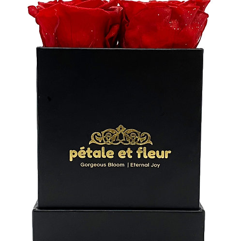 Monet collection black box with sparkle red roses