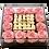 Thumbnail: Twelve pink with twenty five mini white roses