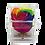 Thumbnail: Single rainbow color rose in acrylic box