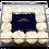Thumbnail: White with mini blue roses