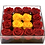 Thumbnail: Red with yellow gold roses