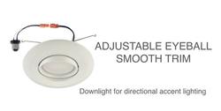Gimbal eyeball LED retrofit light