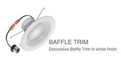 LED lighting Retrofit can Baffle trim