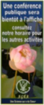 poster general conf a venir Horaire redi