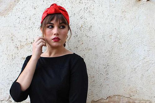 Turbante Quiroga Rojo Scarlet