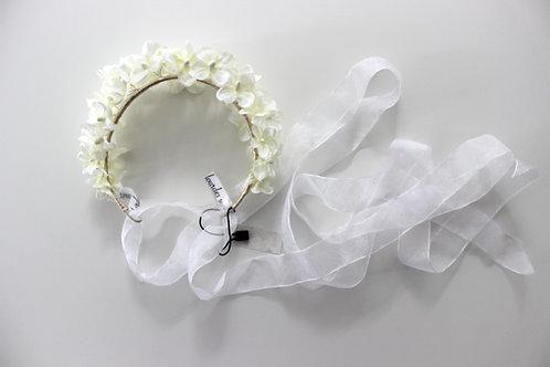 Corona de Flores Eimi Blanca
