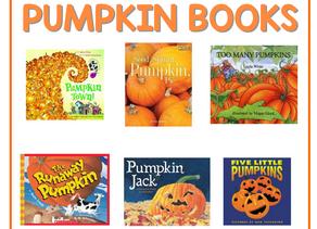 6 Pumpkin Books for Little Readers.