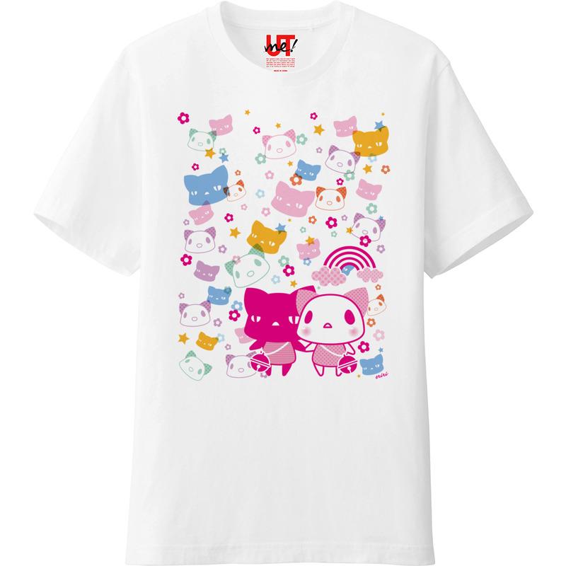 【しろいねことくろいねこ。】Tシャツ。